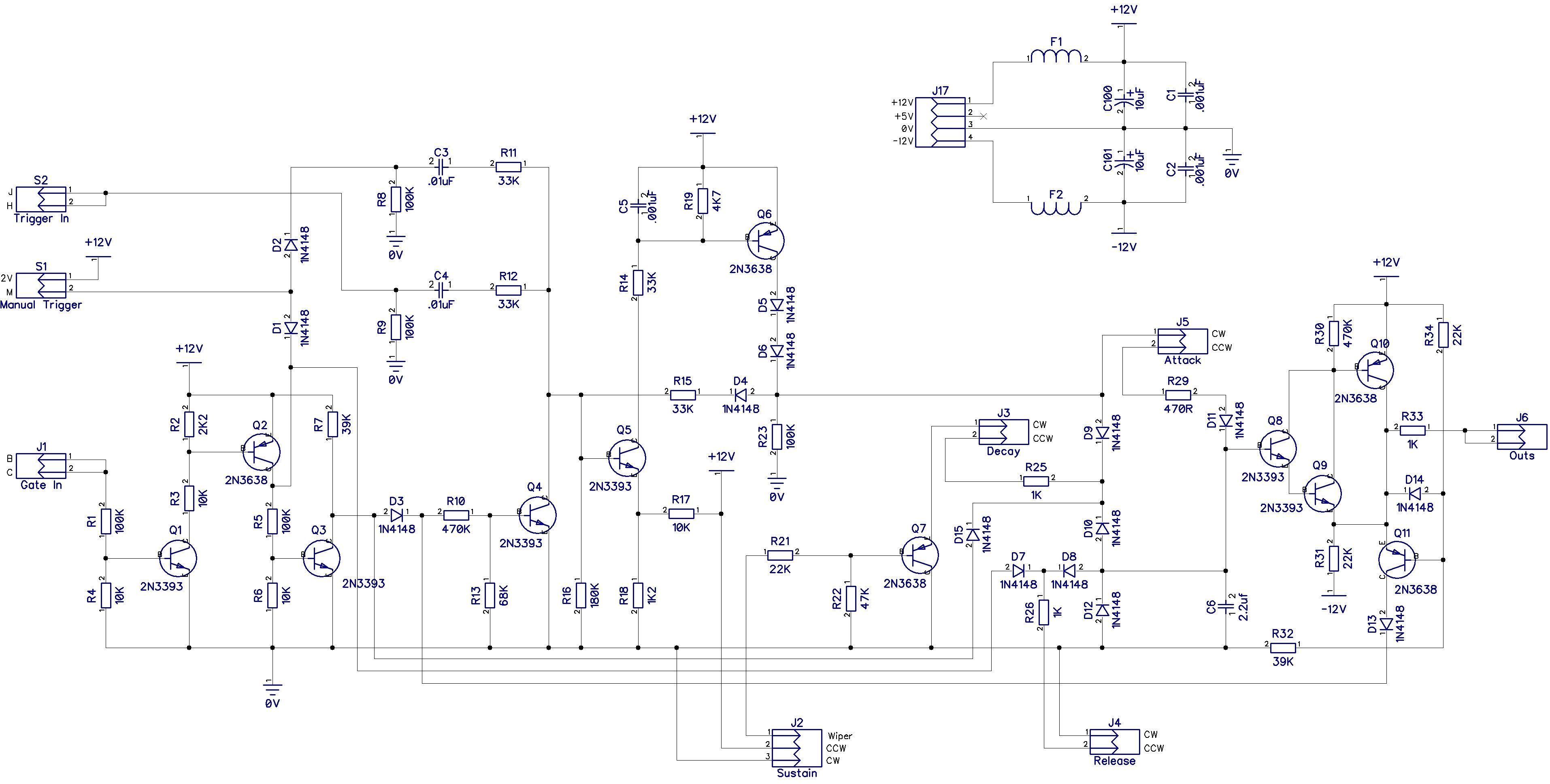 Aries Ar 312 Adsr Module Schematics All About Modular Synth Sk1 Getlofi Circuit Bending Diy