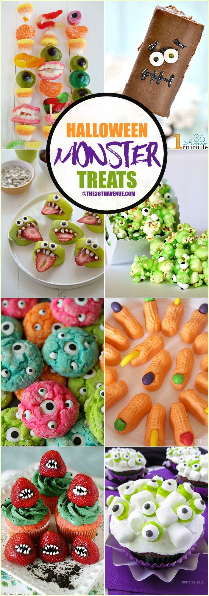 Halloween Recipes - These Halloween Monster Treats are easy to ...