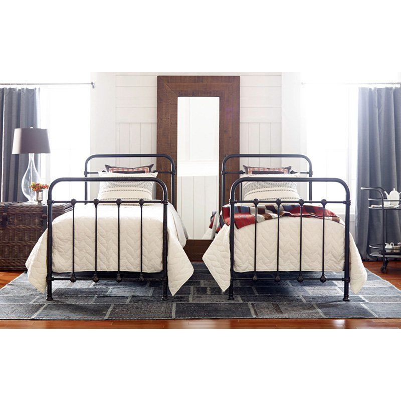 Four Hands Kingsley Iron Twin Bed   The Simple Design Of The Four Hands  Kingsley Iron Twin Bed Features Iron Tubing In The Frame. This Twin Size.
