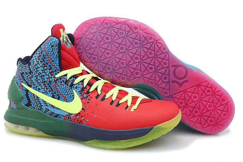Nike Kevin Durant's KD V Mandarin Duck Basketball Shoes