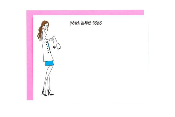 Personalized Medical Note Card  Doctor Note Card Set  Medical