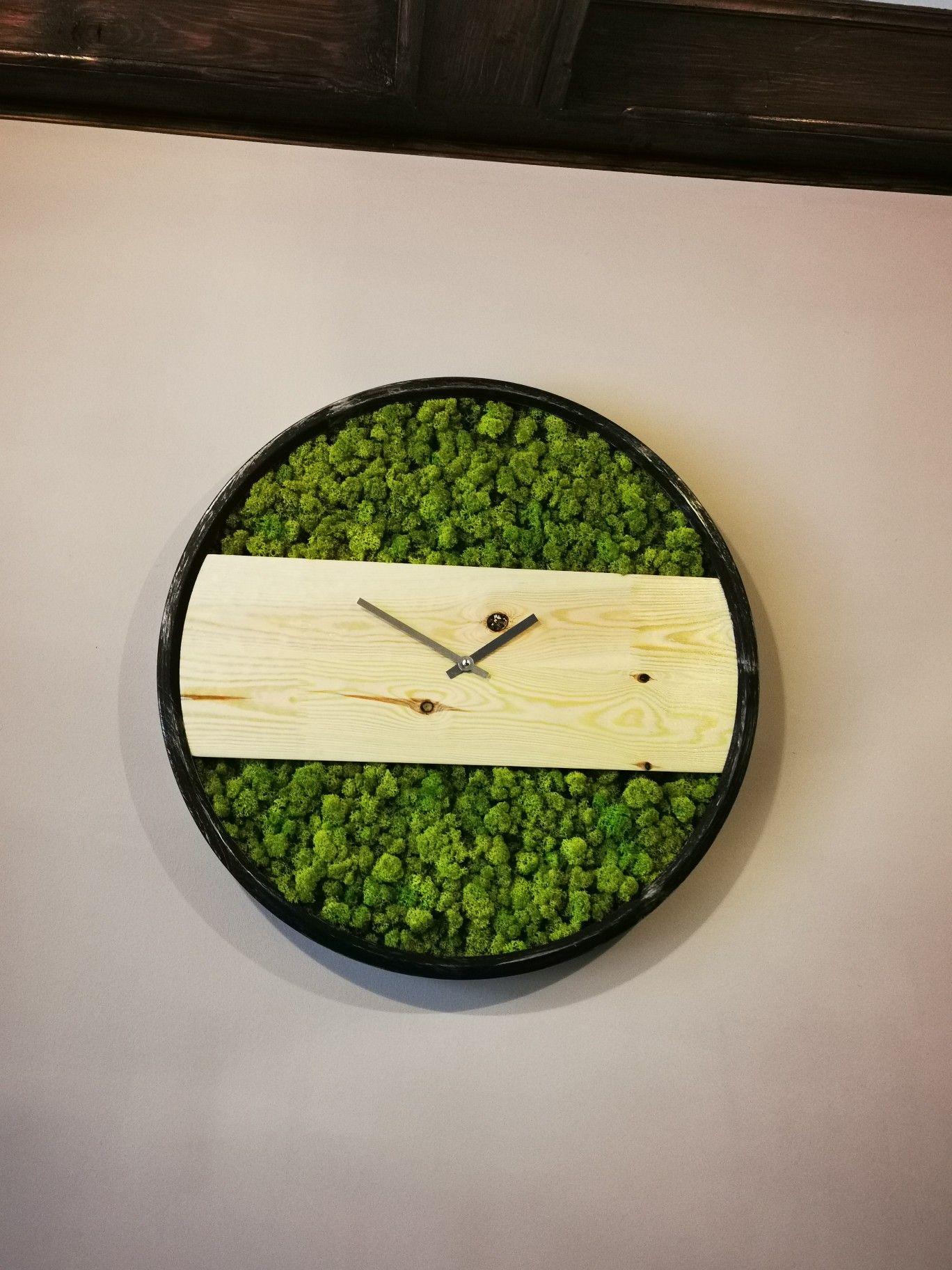 Moss Clock Diy Creative Moss Art Clock