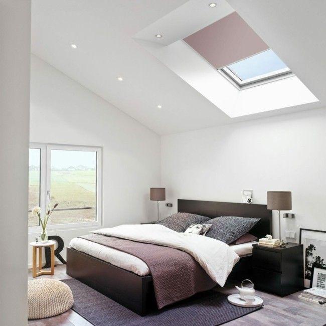 Wohnideen Dachboden stilvoll eingerichtetes schlafzimmer auf dem dachboden warme