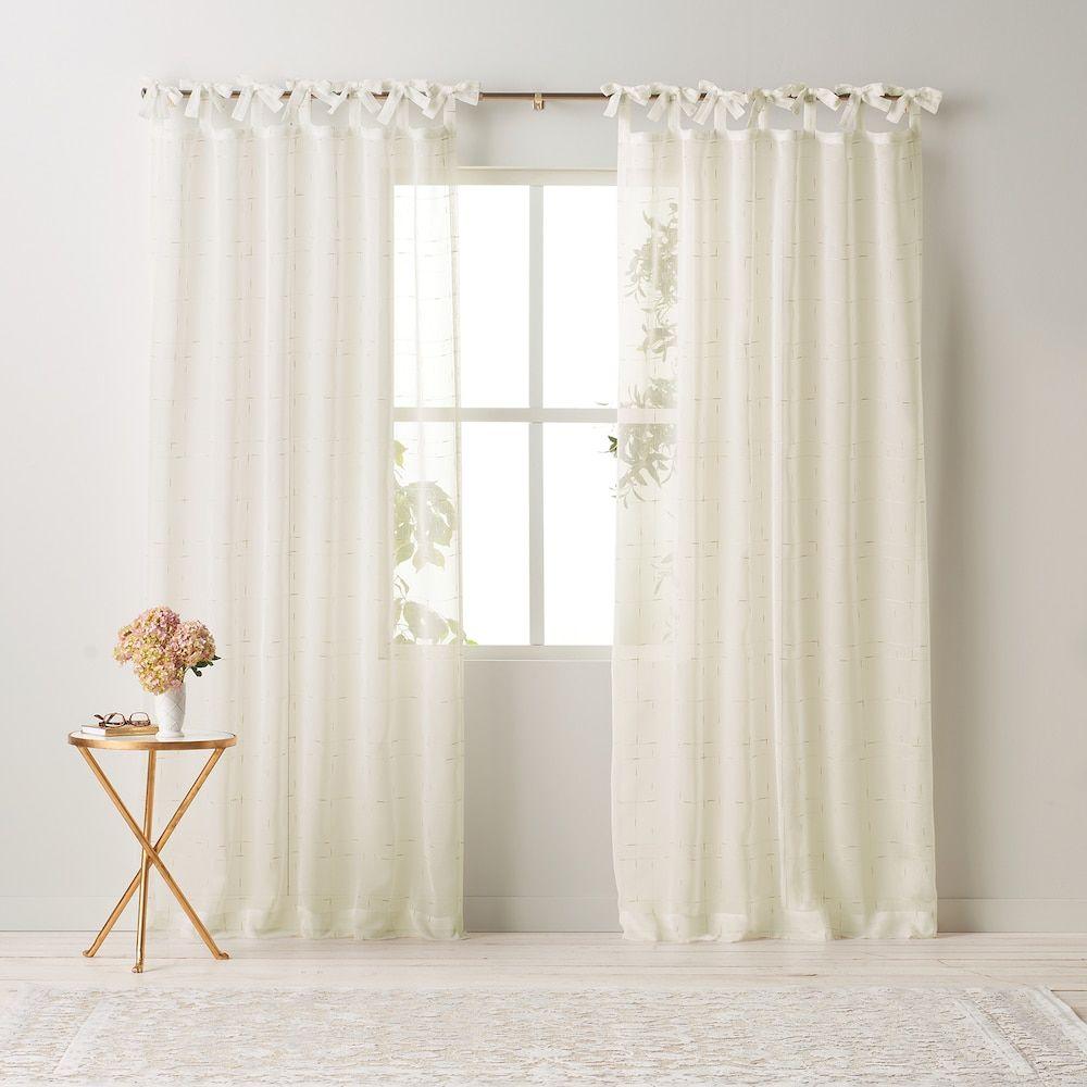 Lc Lauren Conrad Aria Tie Top Window Curtain Curtains Window