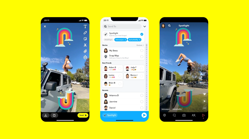 Snapchat Launches A Tiktok Like Feed Called Spotlight Kick Started By Paying Creators Techcrunch Snapchat App Creative Video