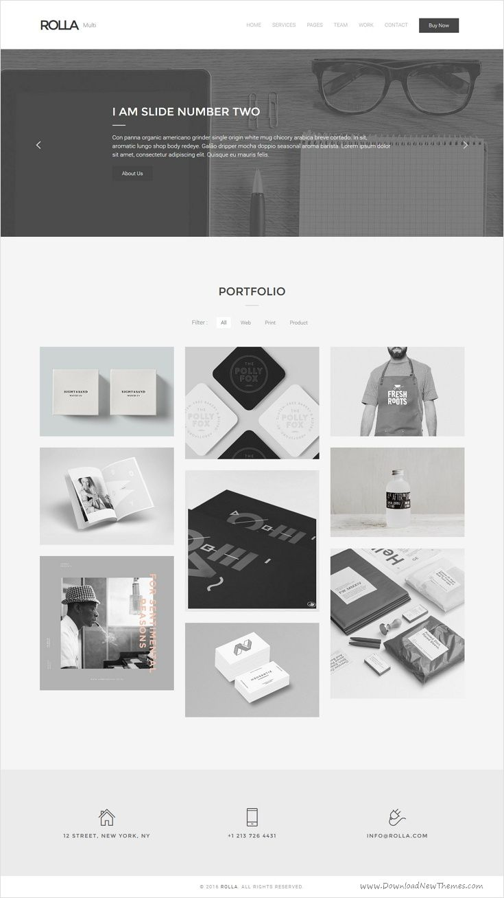 Rolla is an easy to use perfect minimal #bootstrap #template for ...