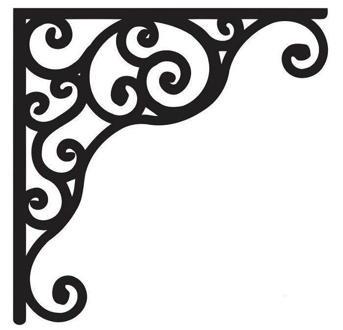 Download Corner design Vector corel file 8 in 2020 | Corner designs ...