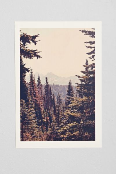 Kurt Rahn Mountains Through The Trees Art Print