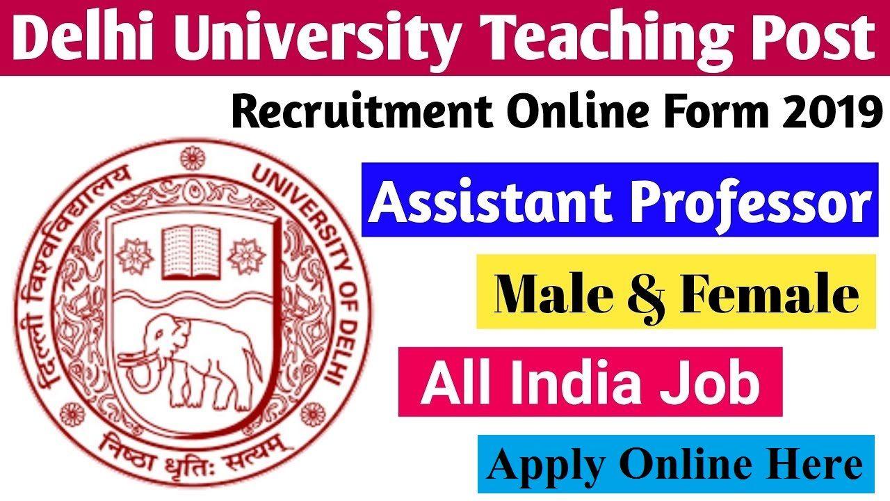 Delhi University Kalindi College Assistant Professor Online Form 2019 Teaching Posts University Teaching Online Form