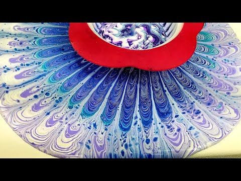 29 2nd Acrylic Swirl Pour With Sink Strainer On Canvas And Vinyl