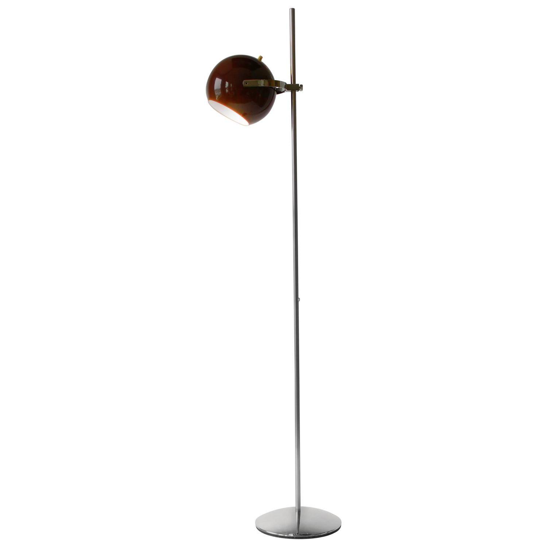 Reggiani Dark Brown Eyeball Floor Lamp, 1960s, Italia | Dark brown ...