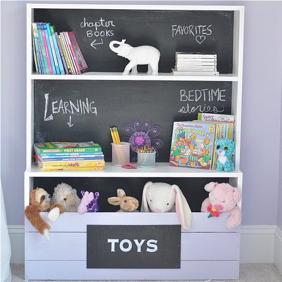 Diy Kids Chalkboard Bookshelf Craft Gawker Diy Bookshelf Kids