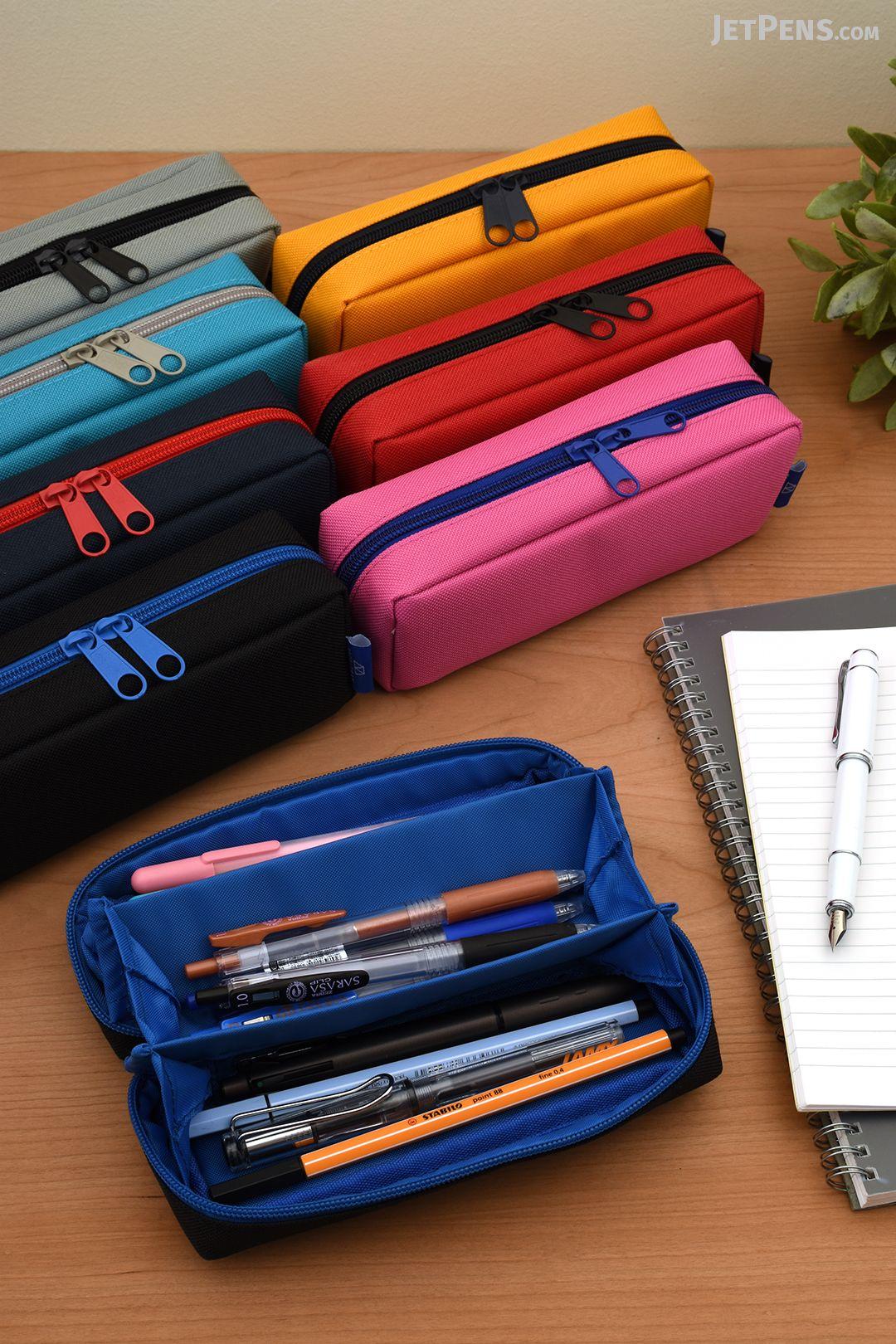 e78e5e225c74 Kamio Japan Paco-Tray Pen Cases open wide to display three tray ...