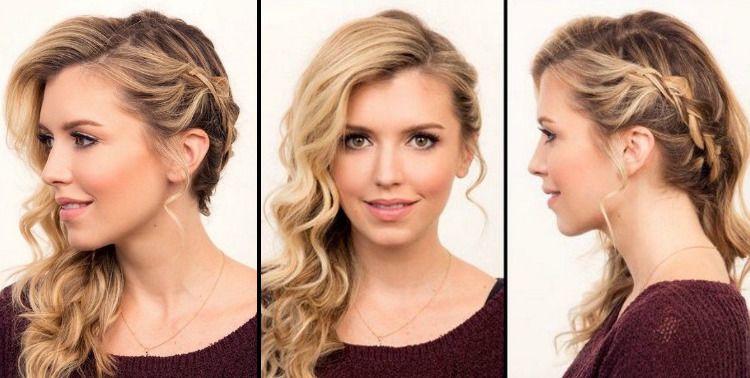 Abendfrisuren Selber Machen Geflochten Seitlich Locken Lange Haare