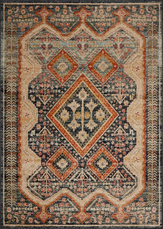 Foundry Select Vergara Oriental Blue Area Rug Wayfair In 2020 Colorful Rugs Area Rugs Rugs