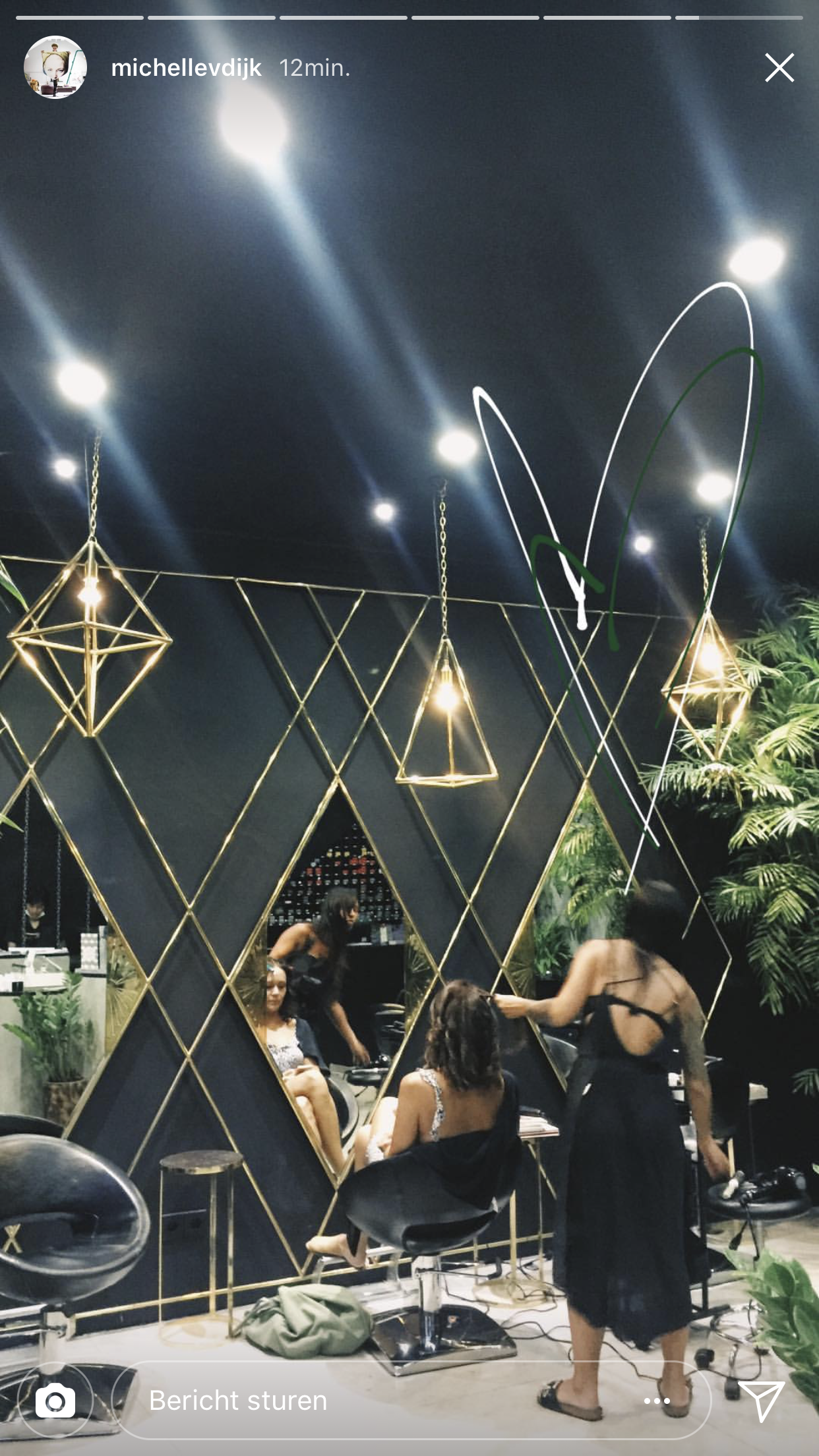 black salon decor inspiration