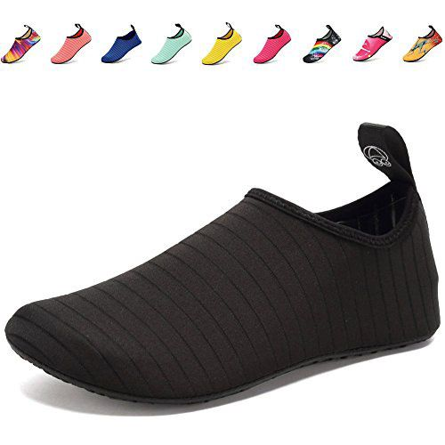 CIOR FANTINY Water Shoes Lightweight Barefoot Quick-Dry Slip-On For Women and Men Walking Sneakers,VSL01,Y.Black,44