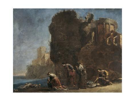 Giclee Print: Hecuba Mourning, C.1630 by Leonaert Bramer : 24x18in
