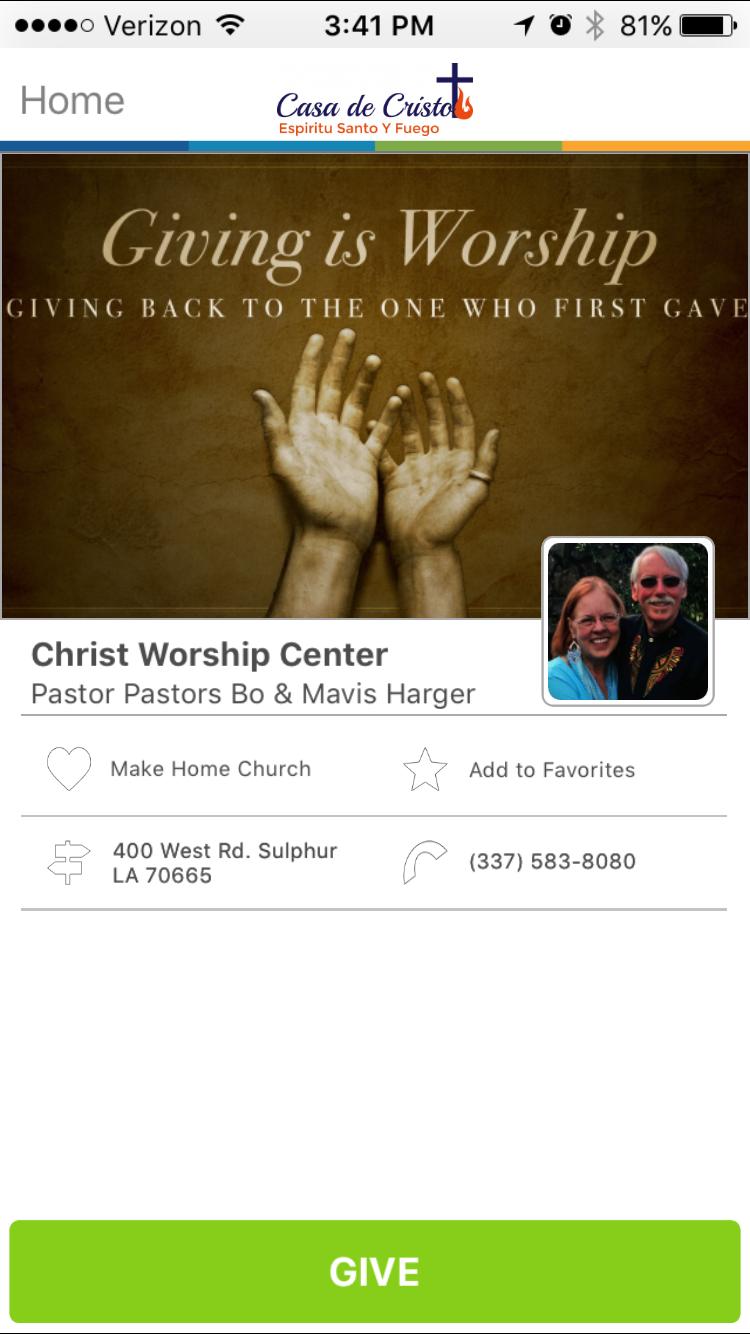 Christ Worship Center in Sulphur, Louisiana