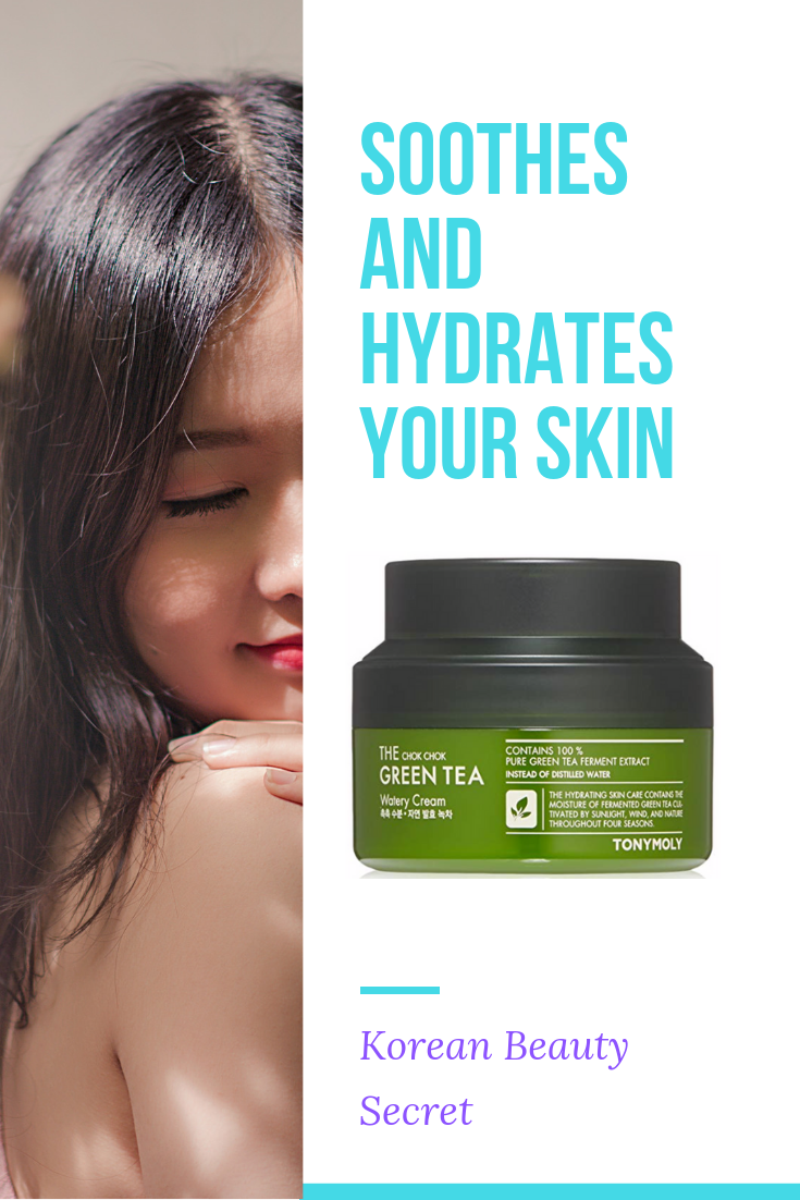 Chok Chok Green Tea Watery Cream Soothes And Hydrates Skin With Korean Skin Care Style Greentea Skincare Ad Kbeauty S Beauty Skin Skin So Soft Skin Health