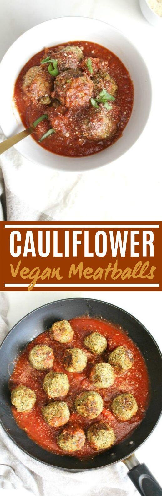 Vegan Cauliflower Meatballs #vegan #dinner #insurancequotes