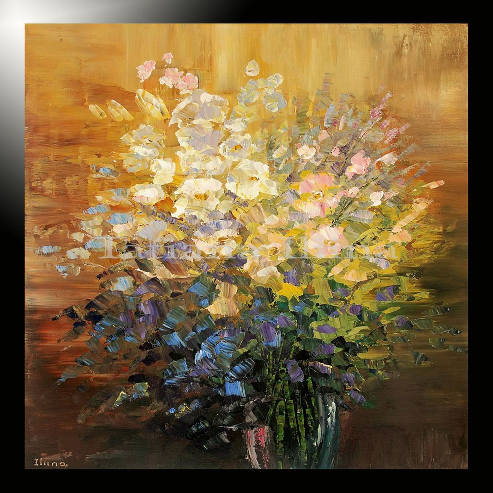 GICLEE of ORIGINAL painting flower abstract Tatiana oil effect hand signed 4/100 #Impressionism