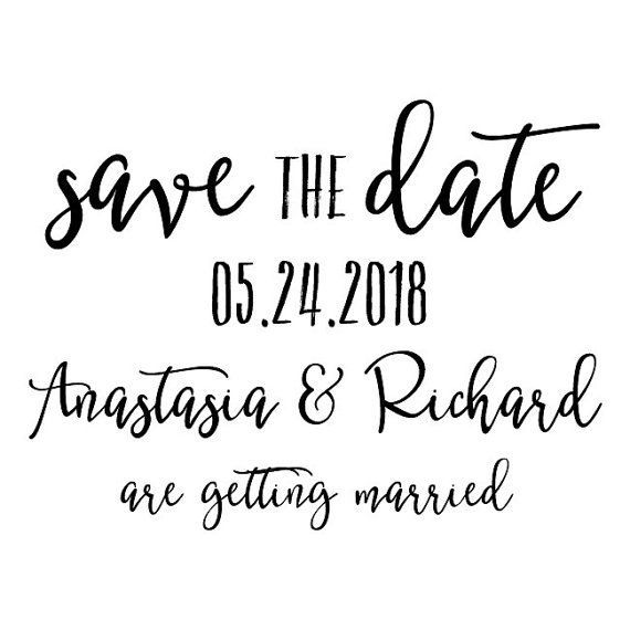 Custom Save The Date Rubber Stamp