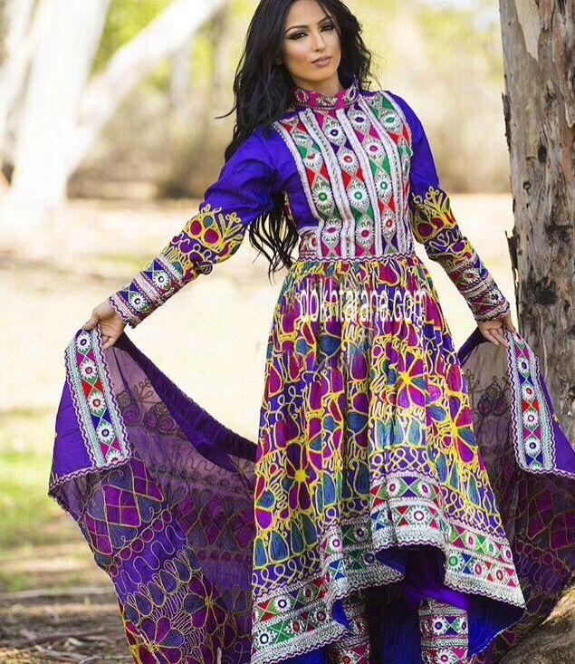 #purple #afghani #dress