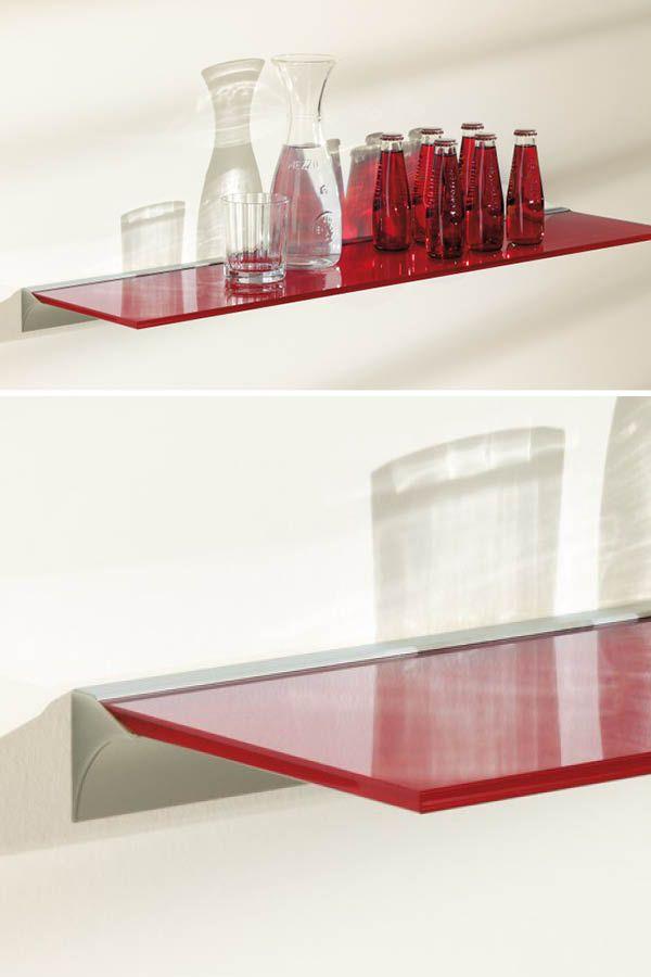Glasboard - Wandregal für die Küche