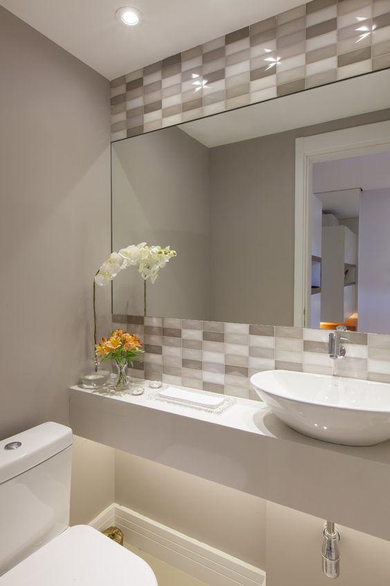 Banheiros modernos veja 75 incr veis modelos com dicas for Antecomedores modernos pequenos