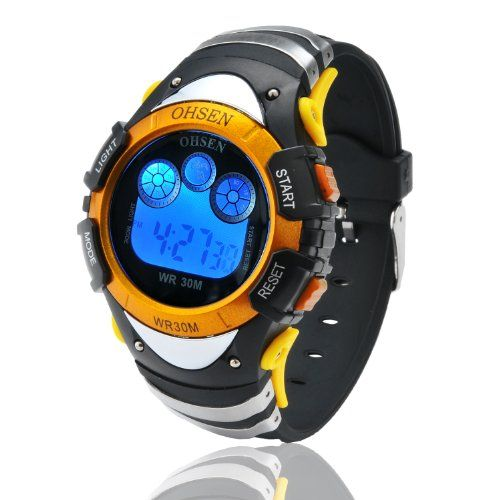 Fafada Boys Childrens Digital Sport Wrist Watch Seven Color Backlight Yellow Case     #Backlight, #Boys, #Case, #Childrens, #Color, #Digital, #Fafada, #Seven, #Sport, #Watch, #Wrist, #Yellow