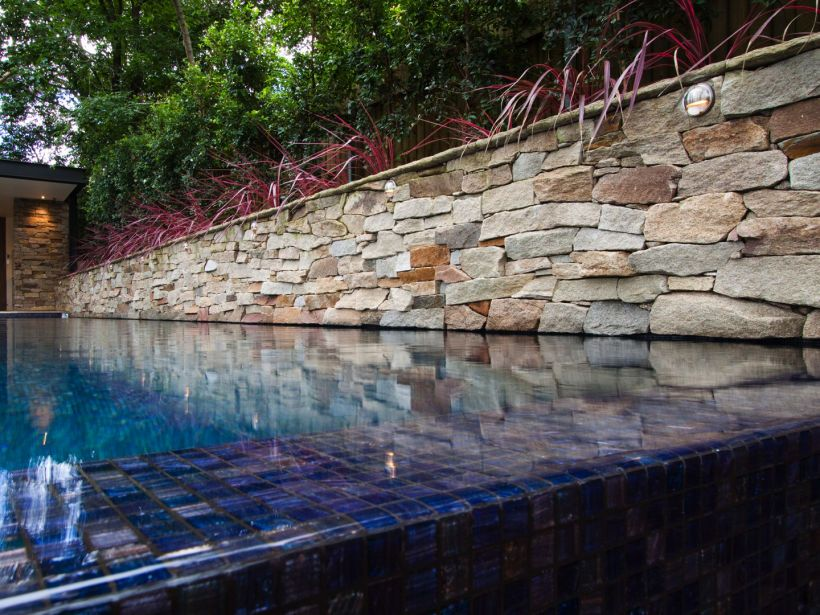 Pool Wall Cladding : Alpine dry stone cladding veneers by paving