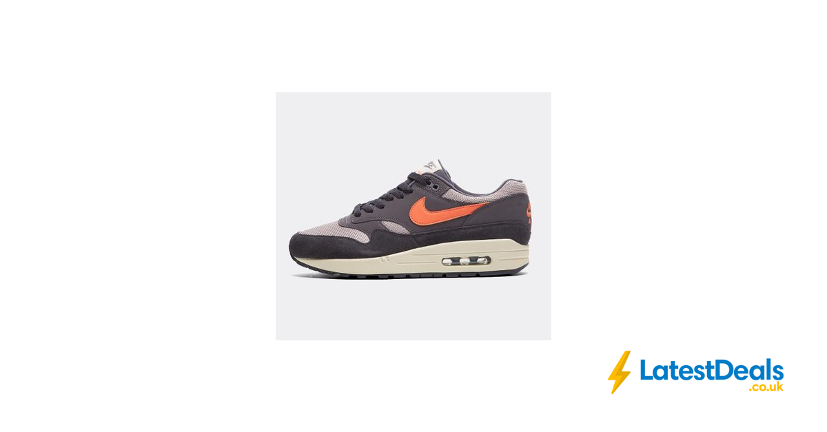 more photos 00900 1c657 Nike Air Max 1 Trainer   Grey   Mango Sizes 6   12 (Other Colours  Available), £59.99 at Footasylum