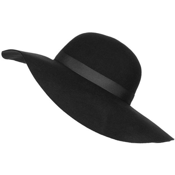 c78f6a00 TOPSHOP Straight Brim Floppy Hat ($52) ❤ liked on Polyvore featuring  accessories, hats, headwear, black, black floppy hat, band hats, black wide  brim ...