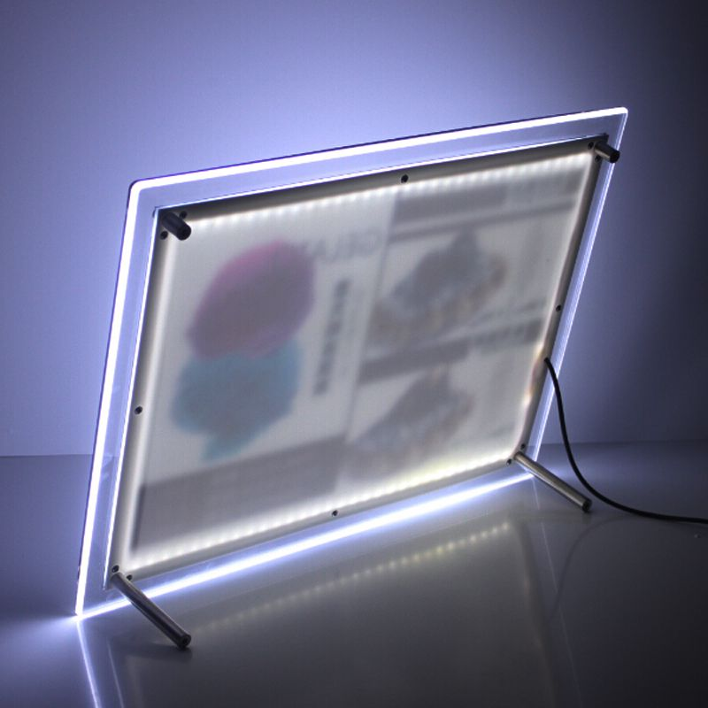 A4 Single Sided Tabletop Led Light Box Illumianted Poster Frames For Cafe Tea Retail Stores Led Light Box Led Lights Led