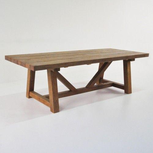 Back Yard Trestle Tables Teak Warehouse 117 W X 39 D X 29 H