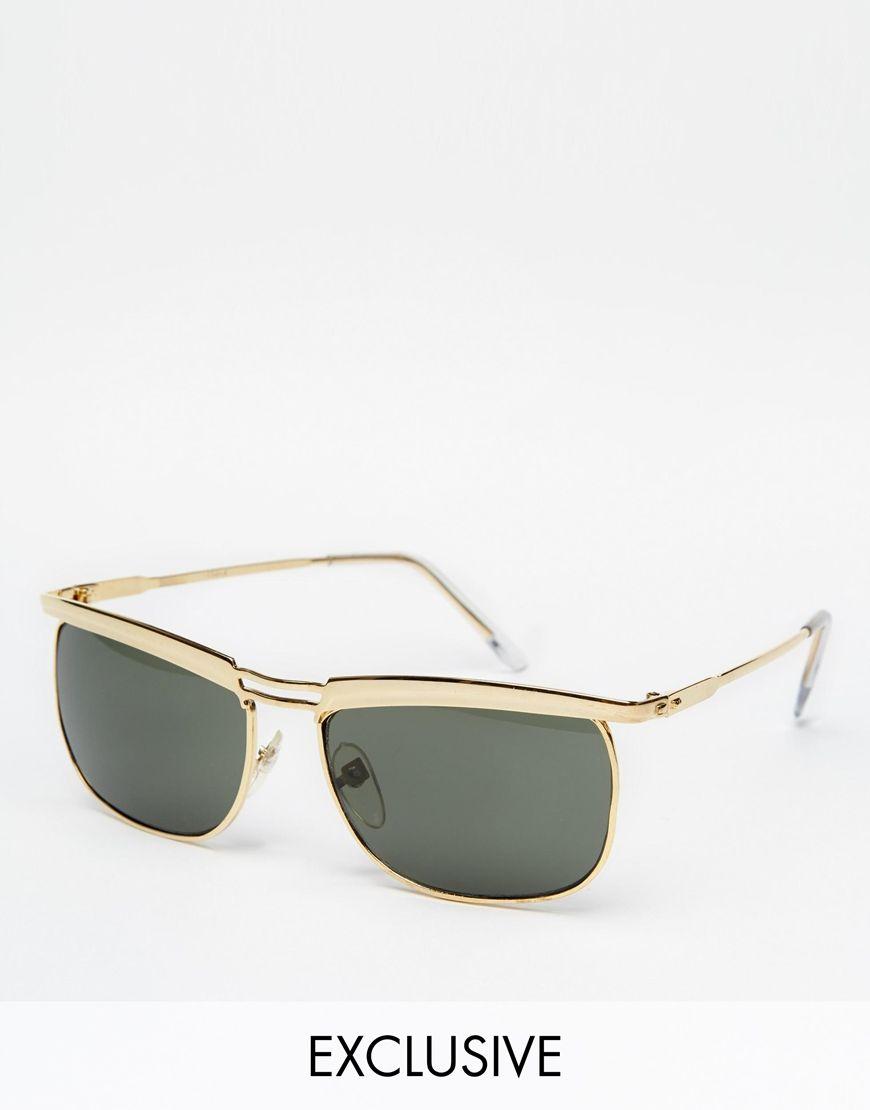 dunkelgetönte Gläser schwarz Sonnenbrille rund Brille Mode verzierung jd5yzRba