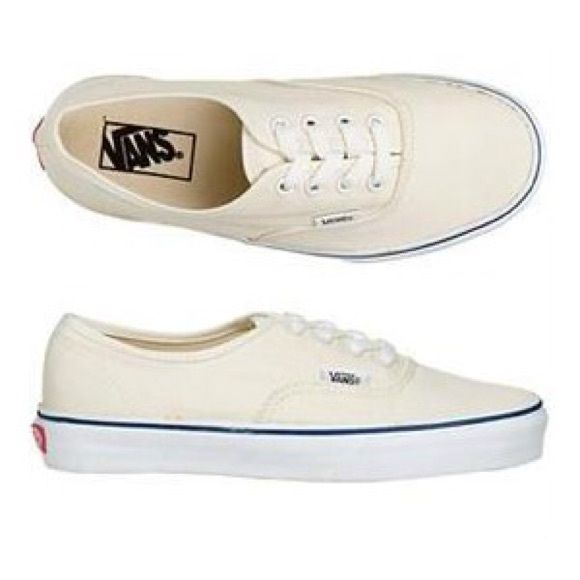vans authentic cream