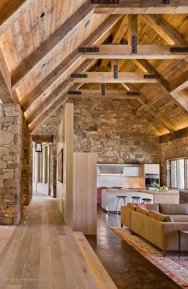 Außergewöhnliches, modern-rustikales Haus in Aspen von Zone 4 Architects #hausdekoration