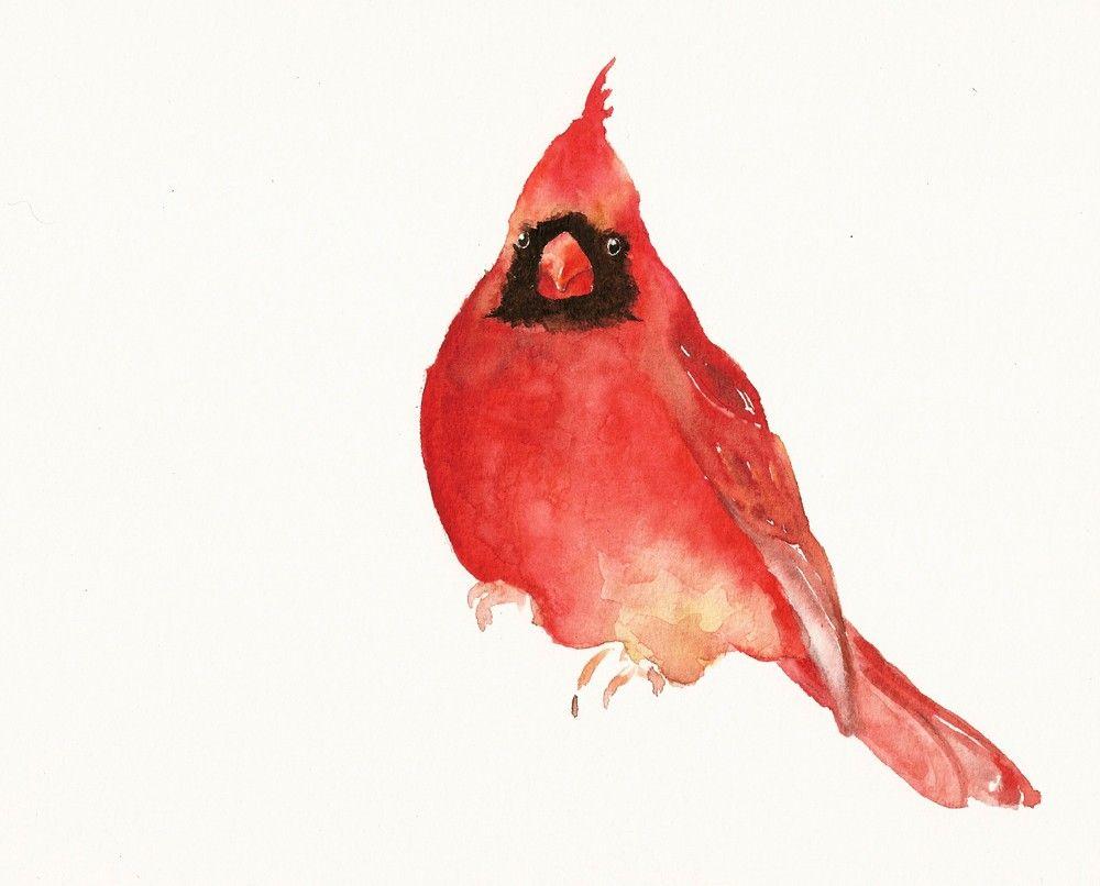 Watercolor Cardinal Tattoo: Tiny Bird Tattoos, Cardinal