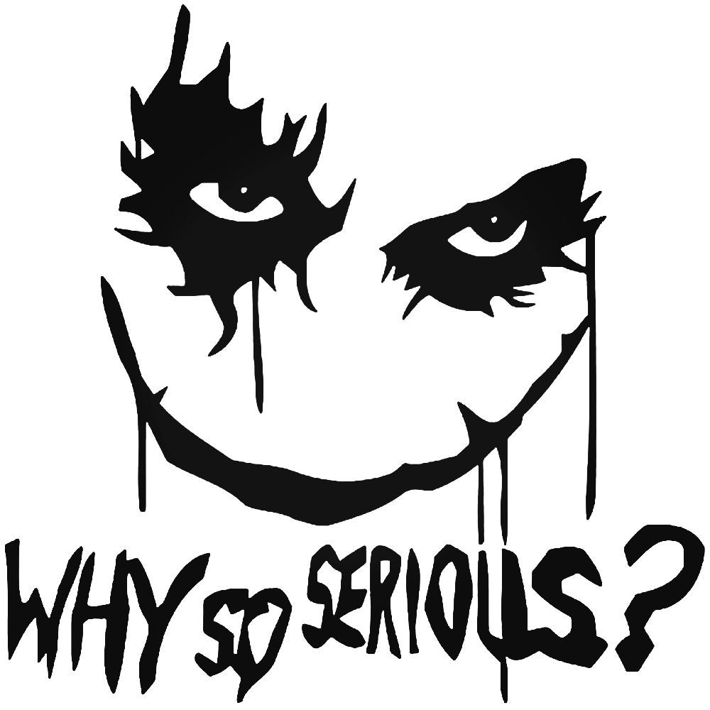 Joker Serious Stickers