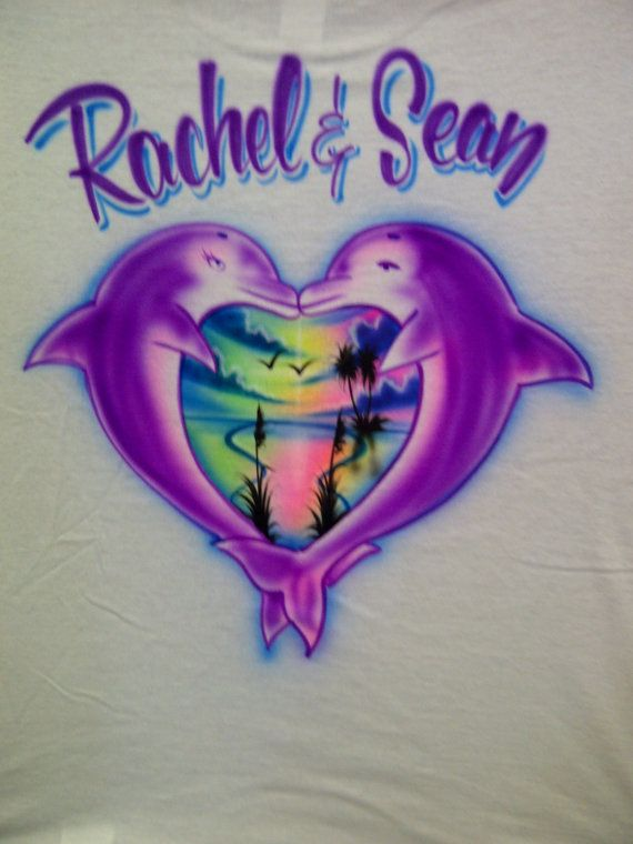 b08dd224 Airbrushed Dolhin Couple With Your Name by airbrushingbytaylor, $14.00