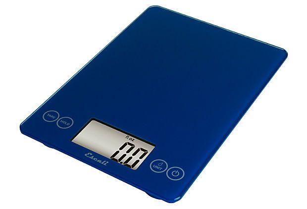 Multipurpose Glass Top Scale, Blue  ESCALI