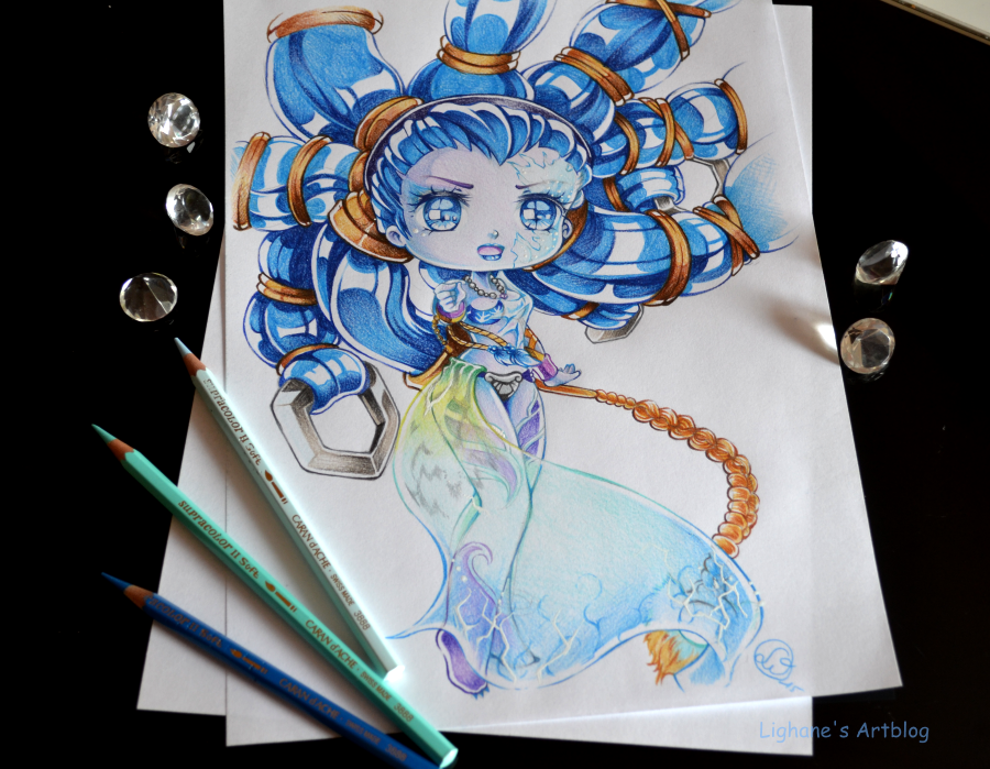 Chibi shiva by lighane colored pencil drawingsmanga