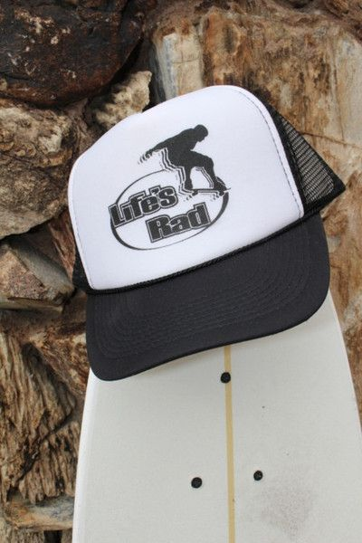 51637e3ba6503 Skateboarder Trucker Hat Live the Rad Life in this retro Trucker Hat.   LifesRad