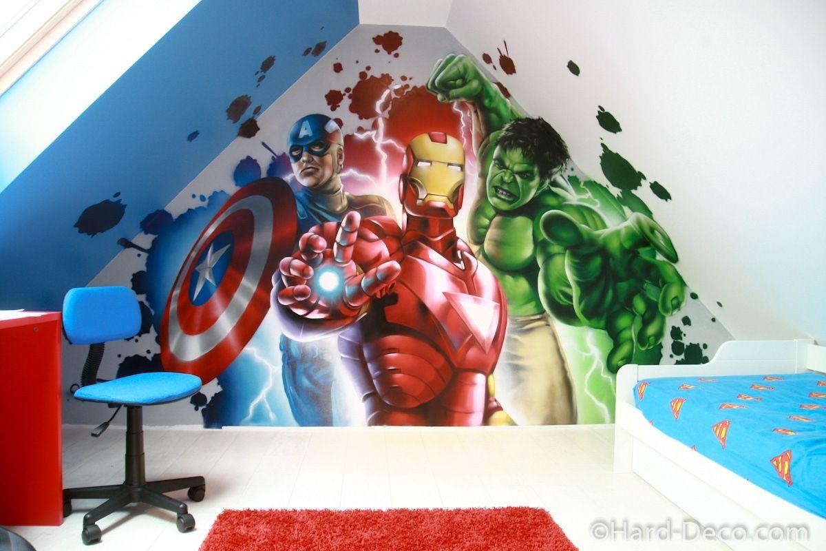 19 Deco Chambre Avengers  Deco chambre garcon, Chambre garcon