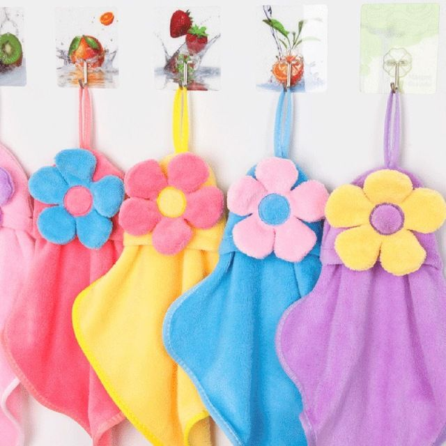 High Quality Sunflower Coral Velvet Absorbent Hand Towels ...