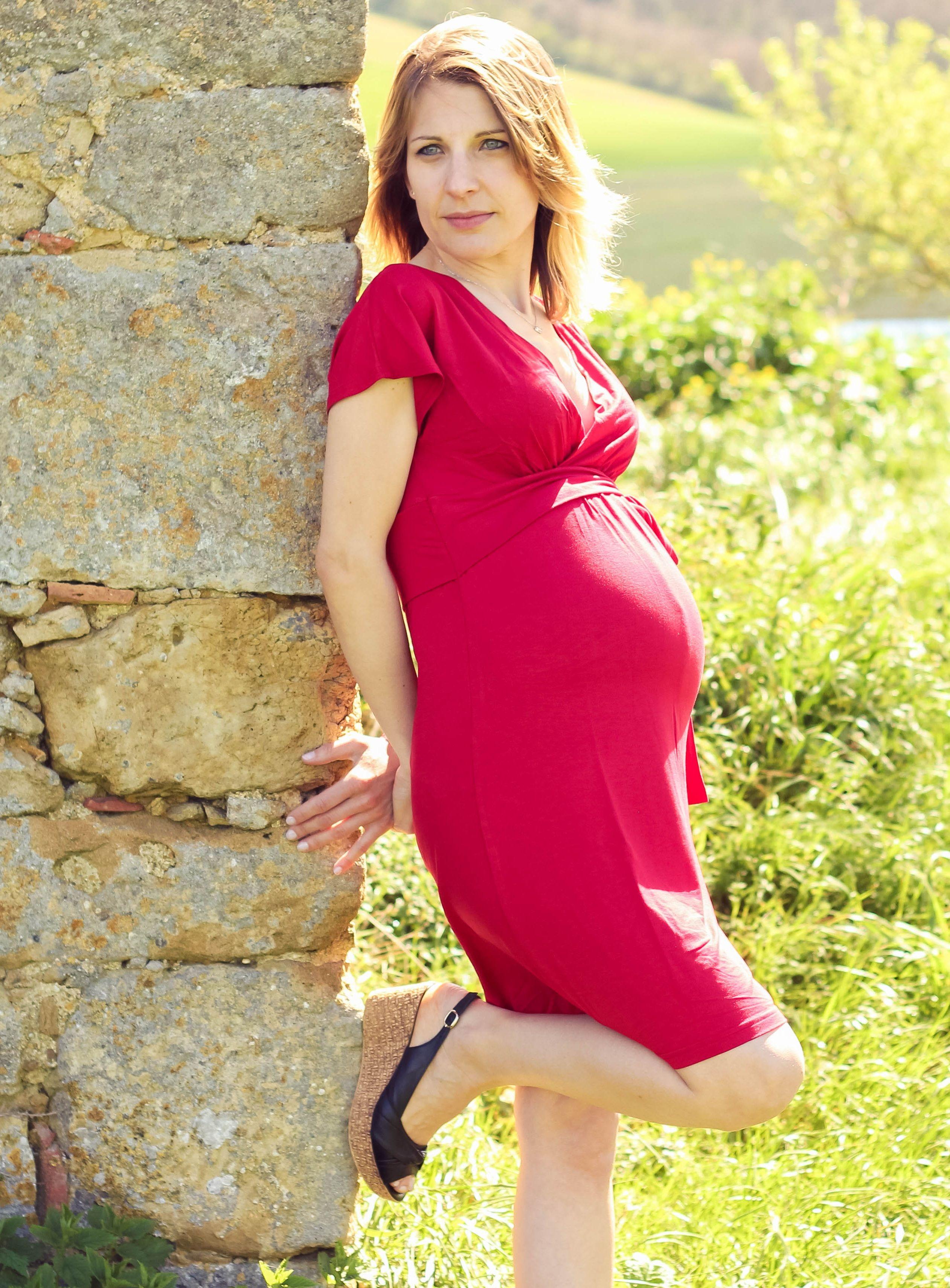 Robe de grossesse rouge   Shooting printemps été 2014   Pinterest 57dcd9906e03