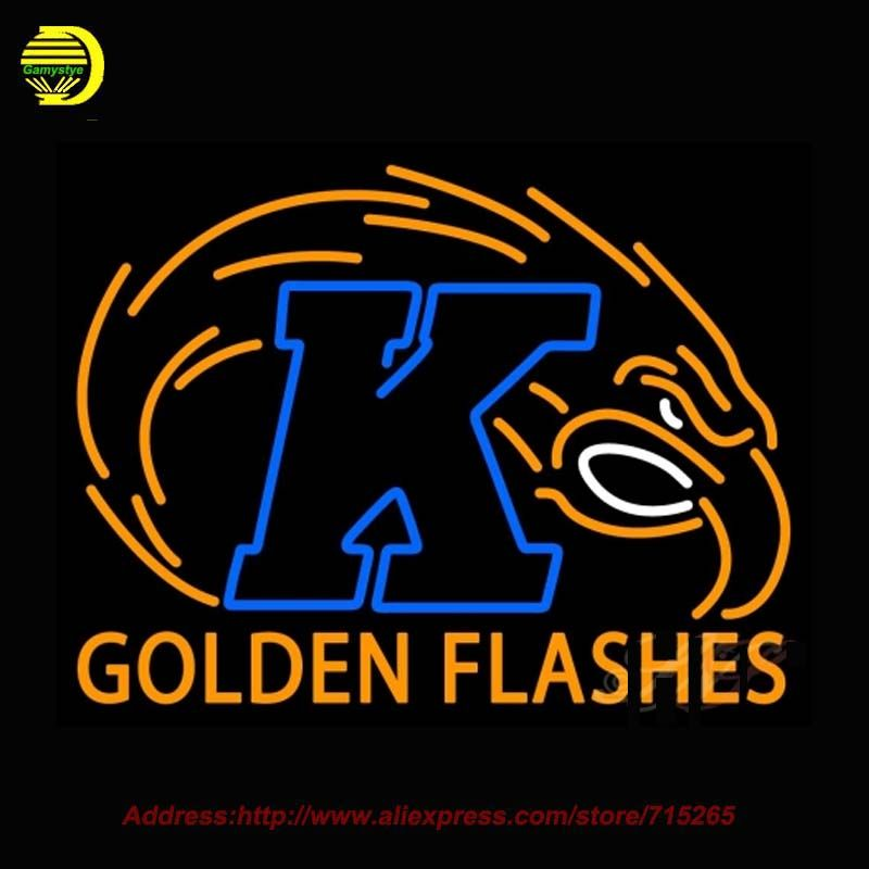 2017 Neon Sign Kent State Golden Flashes NCAA Glass Tube