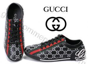 93fb71ec349d Chaussures Gucci Homme Pas Cher En Noir blanc   Bottes Gucci Homme ...